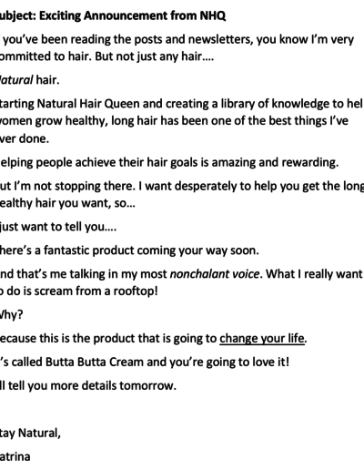 Sample Email for Product Launch